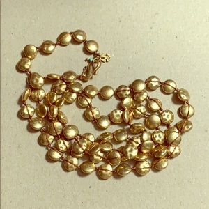 32 plus inches of Golden beads by Lucky Brand